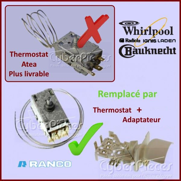 Thermostat Ranco K59L2139 Whirlpool 484000008690