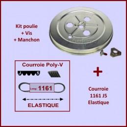 Courroie 1161J5 + Poulie GA-106115