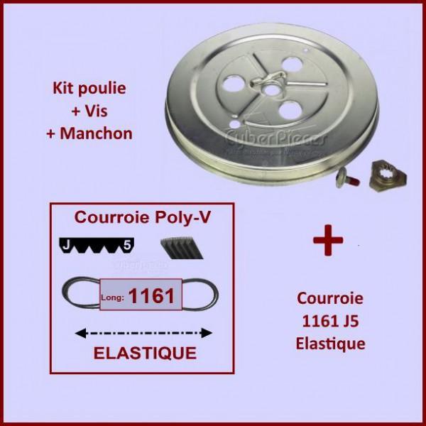 courroie 1161j5 poulie pour machine a laver lavage pieces detachees electromenager. Black Bedroom Furniture Sets. Home Design Ideas