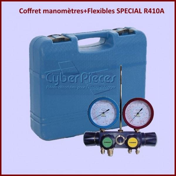 Coffret manomètres+Flexibles SPECIAL R410A