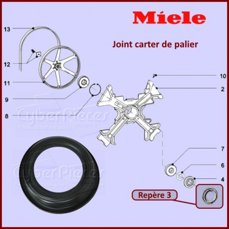 Joint carter de palier tambour Miele 6152520