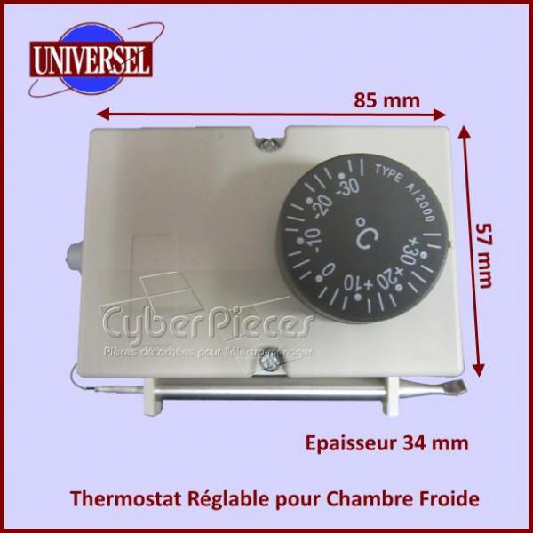 Thermostat r glable pour chambre froide pour thermostats for Thermostat chambre froide