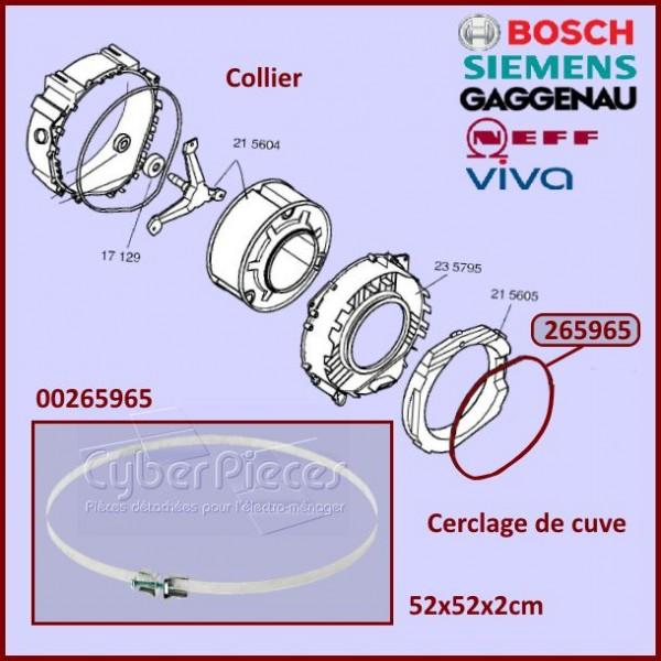 Collier de serrage de cuve Bosch 00265965