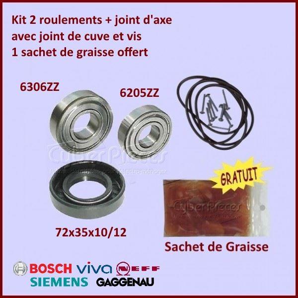 Kit palier + Joint de Cuve Bosch 00172686