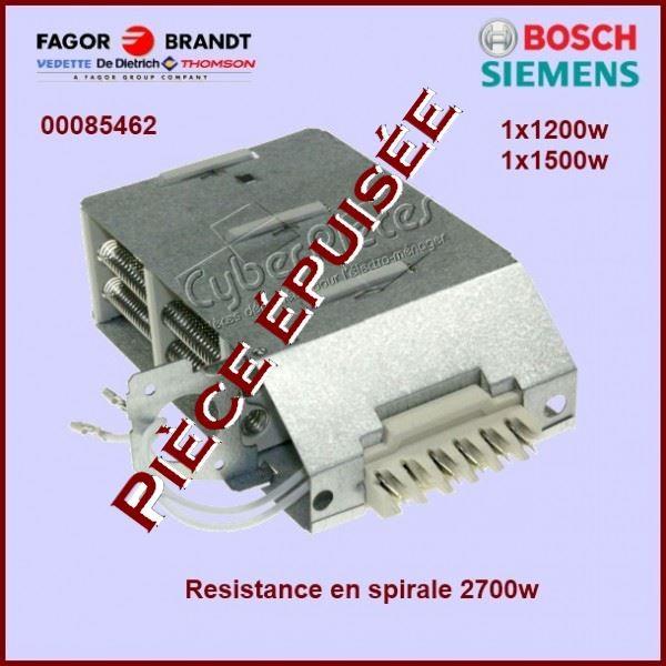 Résistance 2700w Bosch 00085462***Pièce épuisée***