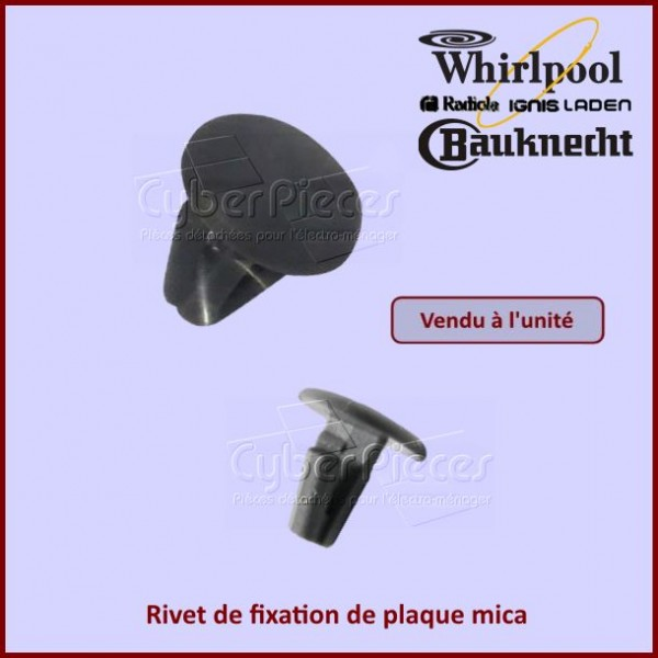 Rivet de plaque mica Whirlpool 481249148016