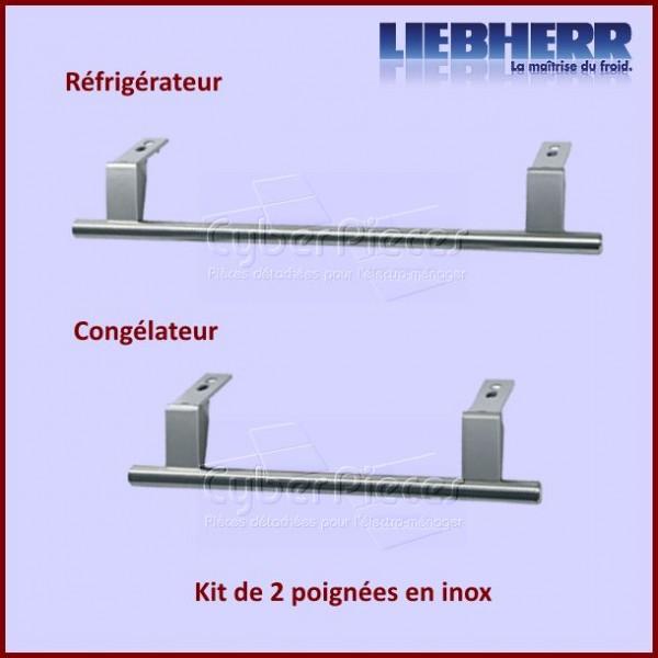 Kit poignées en inox Liebherr 9031136