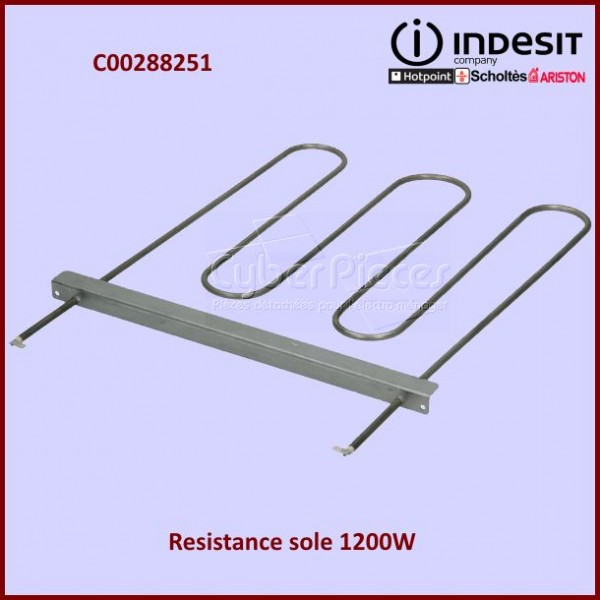 Résistance de sole 1200W Indesit C00288251