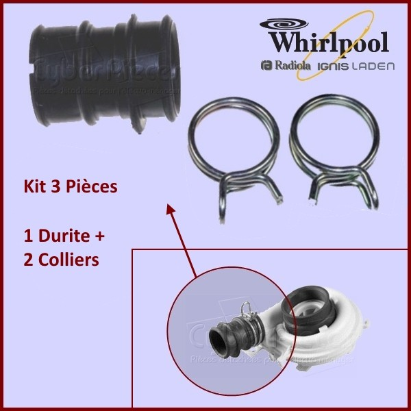 Kit de réparation turbine Whirlpool 481253029437
