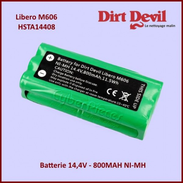 Batterie 14,4V-800MAH NI-MH Dirt Devil HSTA14408
