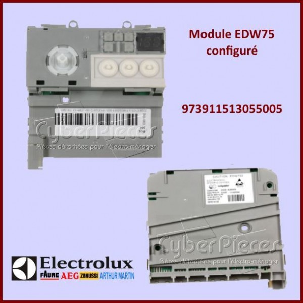 Module électronique configuré EDW750 Electrolux 973911513055005