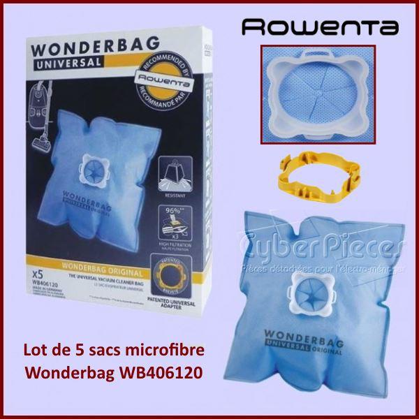sacs aspirateur wonderbag classic wb406120 pour aspirateur petit electromenager pieces detachees. Black Bedroom Furniture Sets. Home Design Ideas