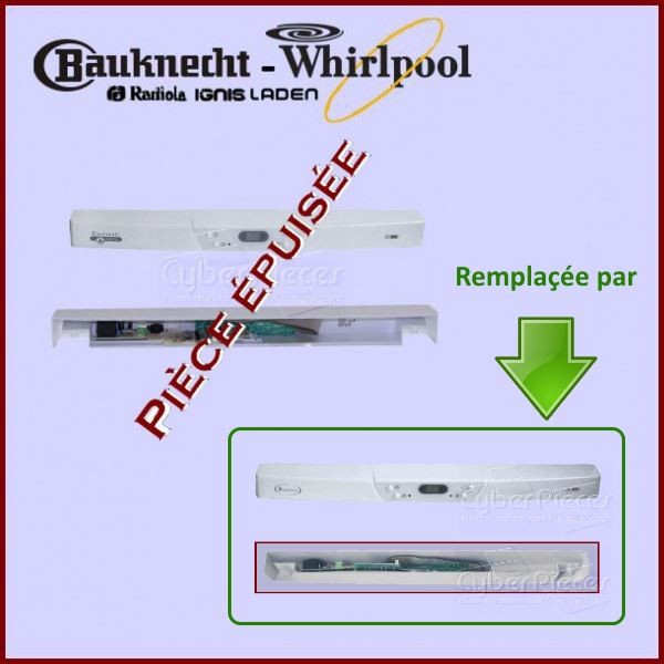 Bandeau+module Whirlpool 481245228512 *** Pièce épuisée ***