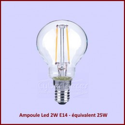 Ampoule Led 2W E14 - équivalent 25W - Globe 45mm CYB-255325