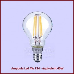 Ampoule Led 4W E14 - équivalent 40W - Globe 45mm CYB-433648