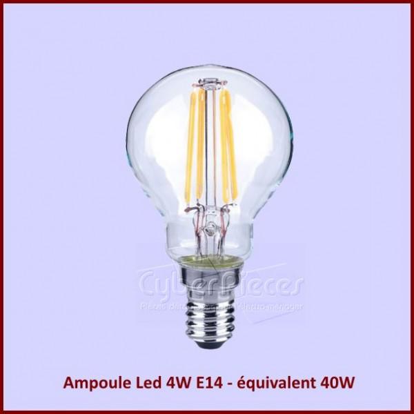 ampoule led 4w e14 quivalent 40w globe 45mm pour composant electriques composant produits. Black Bedroom Furniture Sets. Home Design Ideas