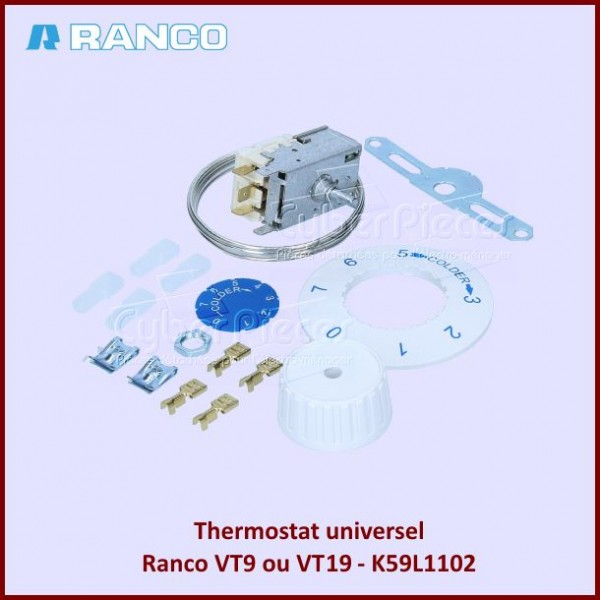 Thermostat  Ranco VT9 ou VT19 - K59L1102