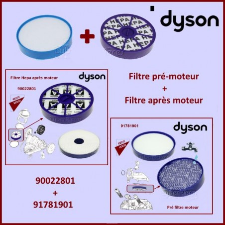 Kit de 2 filtres aspirateur Dyson DC19-20-21