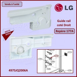 Guide rail assemblé Droit LG 4975JQ2006A CYB-271387