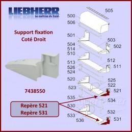 Fixation Droite Support Paroi Liebherr 7438550 CYB-097154
