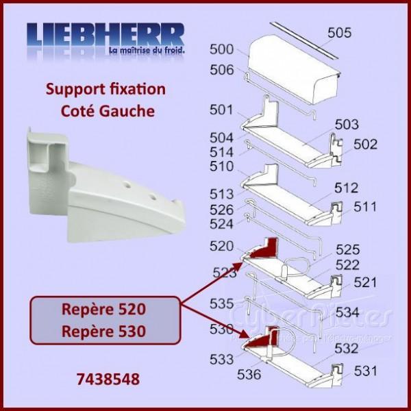 Fixation Gauche Support Paroi Liebherr 7438548 CYB-097147