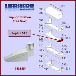 Fixation Droite Support Paroi Liebherr 7438554 CYB-217514