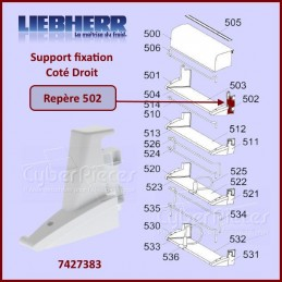 Fixation Droite Support Paroi Liebherr 7427383 CYB-315562