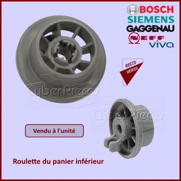 Roulettes avec axe du panier Inférieur Bosch 00165314