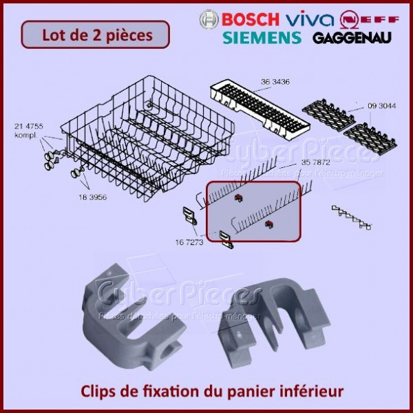 Clips de maintien des tiges rabattables Bosch 00167291