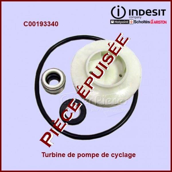 Turbine de pompe de cyclage Indesit C00193340***Pièce épuisée***