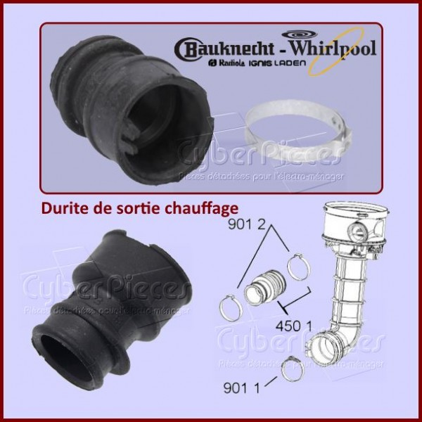 Durite de sortie chauffage Whirlpool 480140102282