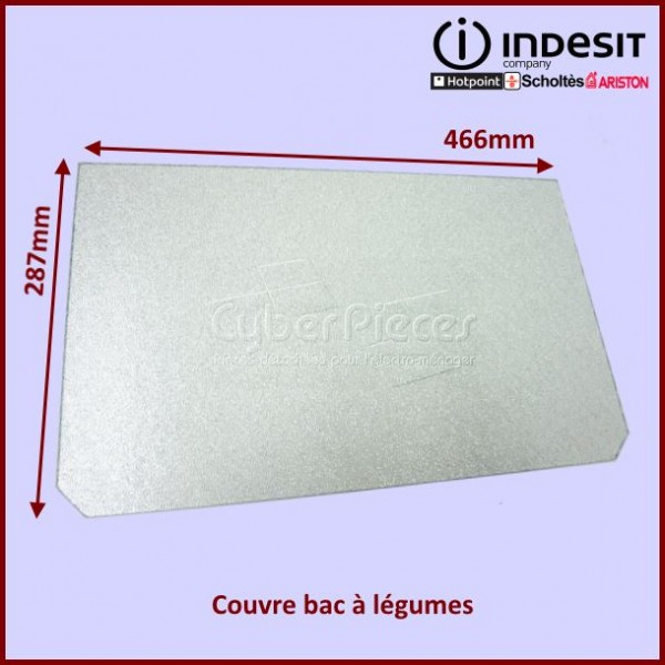 Clayette en verre 466x287x4mm Indesit C00089516