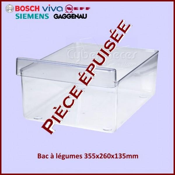 Bac à légumes 355x260x135mm Bosch 00351897 ***Pièce épuisée***
