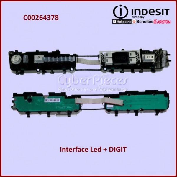 Interface LED + DIGIT Indesit C00264378