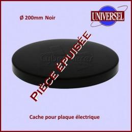 Cache plaque 200mm Noir uni...