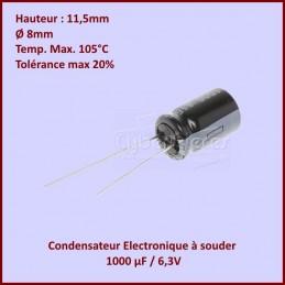Condensateur 1000µF (1000MF) 6,3V CYB-372640