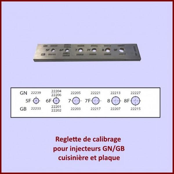 Reglette calibrage d'injecteurs
