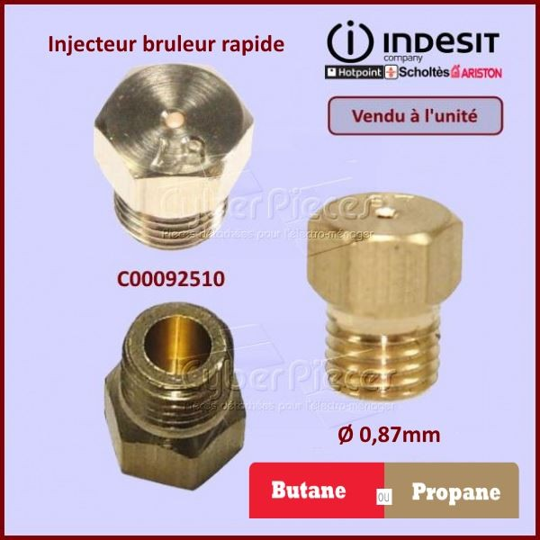 Injecteur rapide Butane Indesit C00092510
