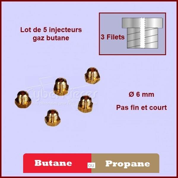 Kit d'injecteurs standard gaz Butane 6mm