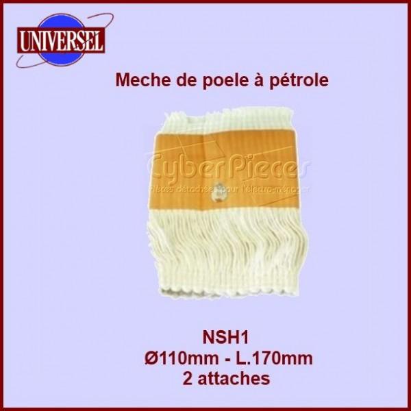 NSH1 Mèche de poêle à pétrole 2 attaches 110x170mm