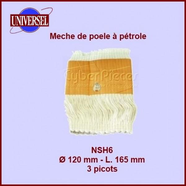 NSH6 Mèche de poêle à pétrole 3 picots- Tos3100- 120x165mm