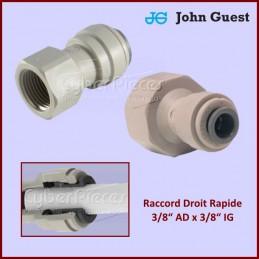"Raccord Droit Rapide 3/8"" AD x 3/8"" IG CYB-278805"