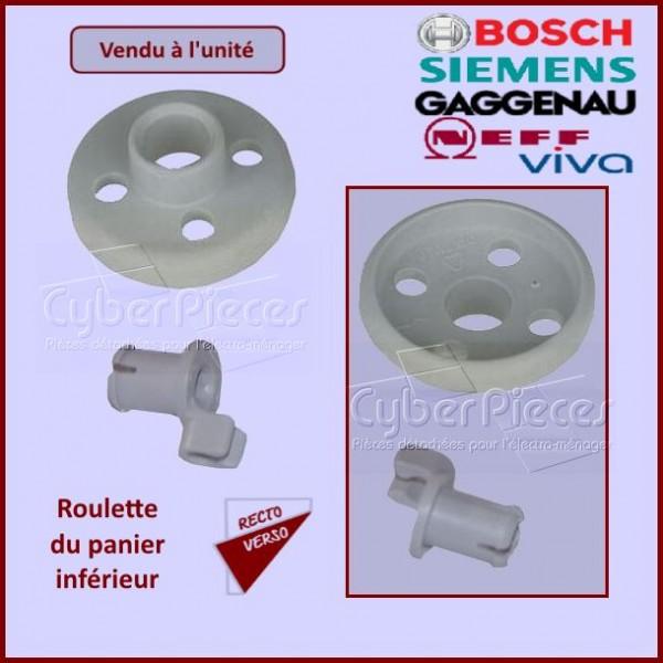 Roulette avec Axe du panier Inférieur Bosch  00066320