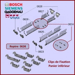 Clips de Fixation Panier inférieur Bosch 00611472 CYB-297004
