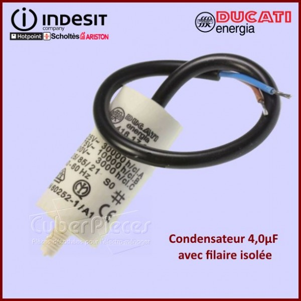 Condensateur 4,0µF (4MF) 450 Volts A Fils