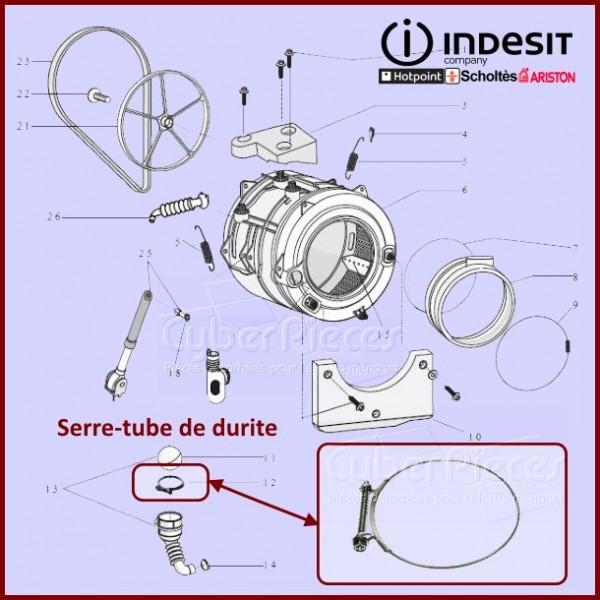 Serre-tube durite Indesit C00094908