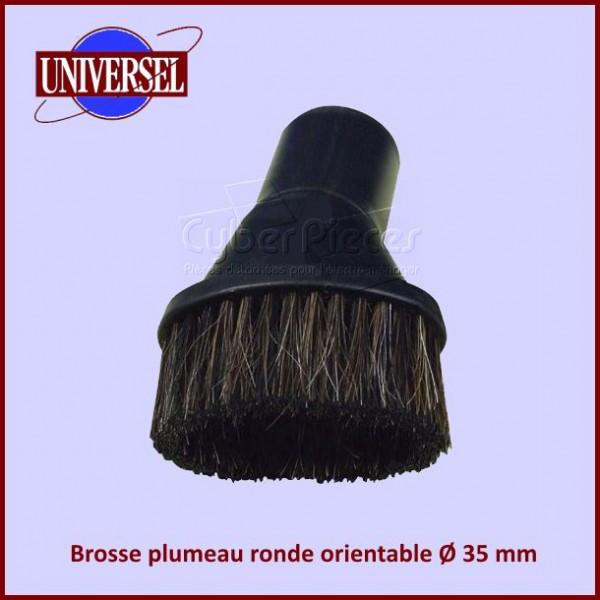 Brosse plumeau ronde orientable Ø 35 mm