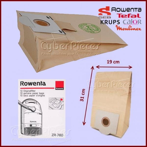 Sac en papier Rowenta ZR760 / ZR765