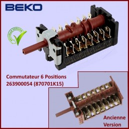 Commutateur 6 positions Beko 263900054 (870701K15) CYB-055956