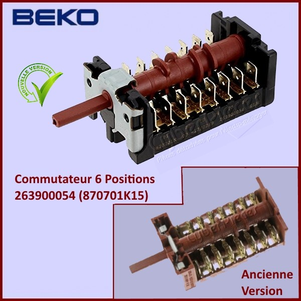 Commutateur 6 positions Beko 263900054 (870701K15)
